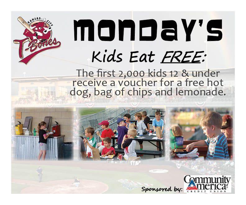 Monday Promo! (With images) Kids eat free, Kids, Kansas city
