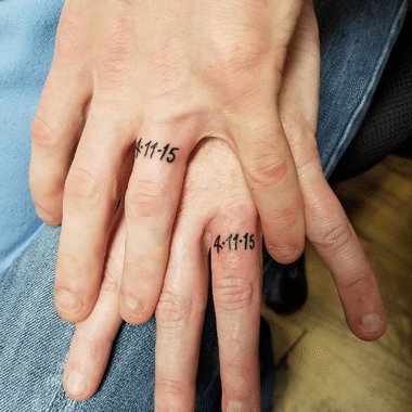 Getting Your Wedding Date Tattooed As Your Wedding Ring Is A Neat