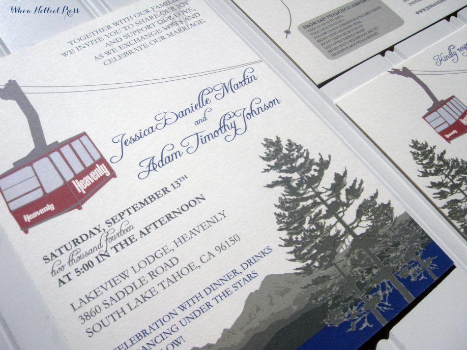 Invitations Card Lake District Themed Wedding