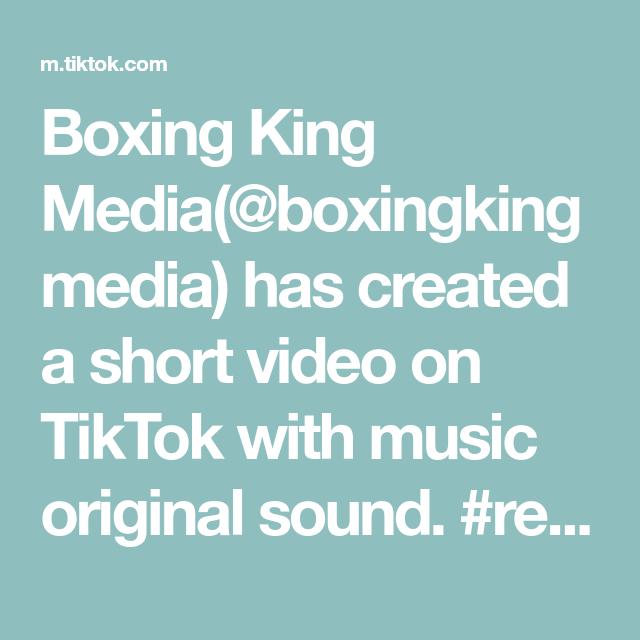 Boxing King Media Boxingkingmedia Has Created A Short Video On Tiktok With Music Original Sound Revenge Vengeance Re The Originals Eyebrow Tutorial Music