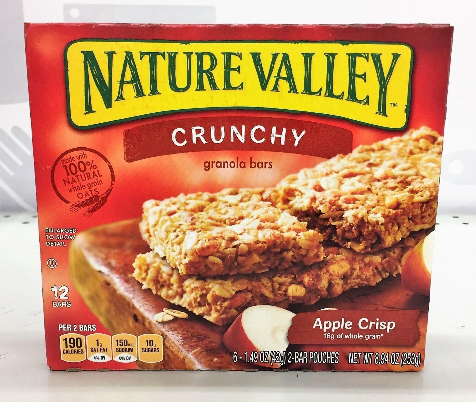 $6.49 - Nature Valley Crunchy Apple Crisp Granola Bars 8.94 Oz #ebay #Home & Garden   Crunchy Granola, Roasted Almonds, Granola