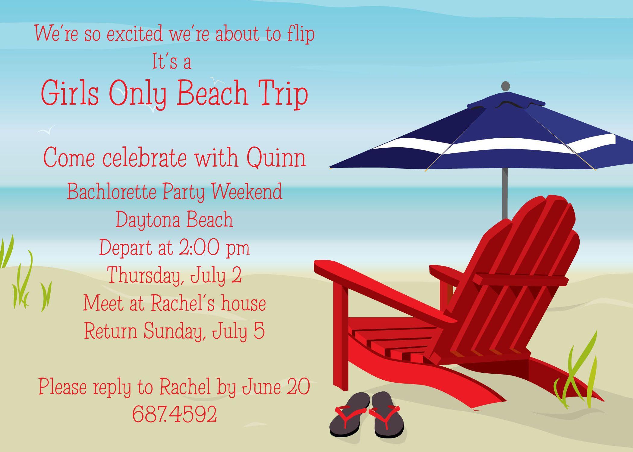 Beach party invitation card and invitation ideas beach party beach party invitation card and invitation ideas spiritdancerdesigns Gallery