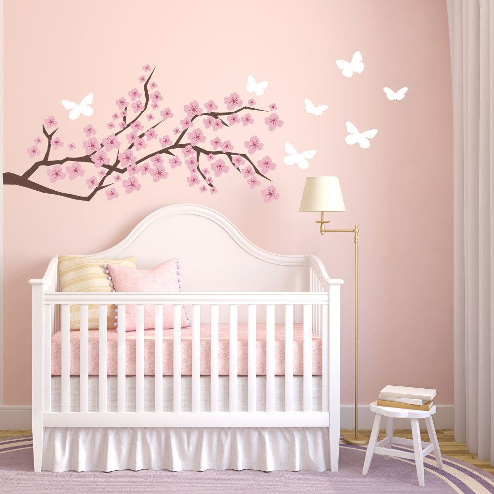 Cherry Blossom Wall Decal Fl Decals Nursery