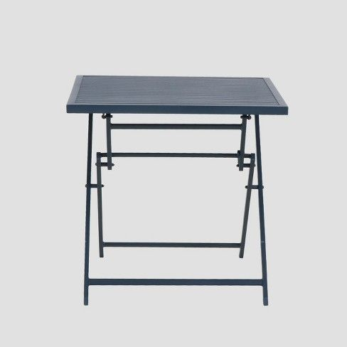Aluminum Slat Folding Patio Bistro Table   Dark (Navy) Blue. $79 Designed  To Last, This Table Features A Sleek, Weather Resistant U0026 Rust Resistant  Finish ...