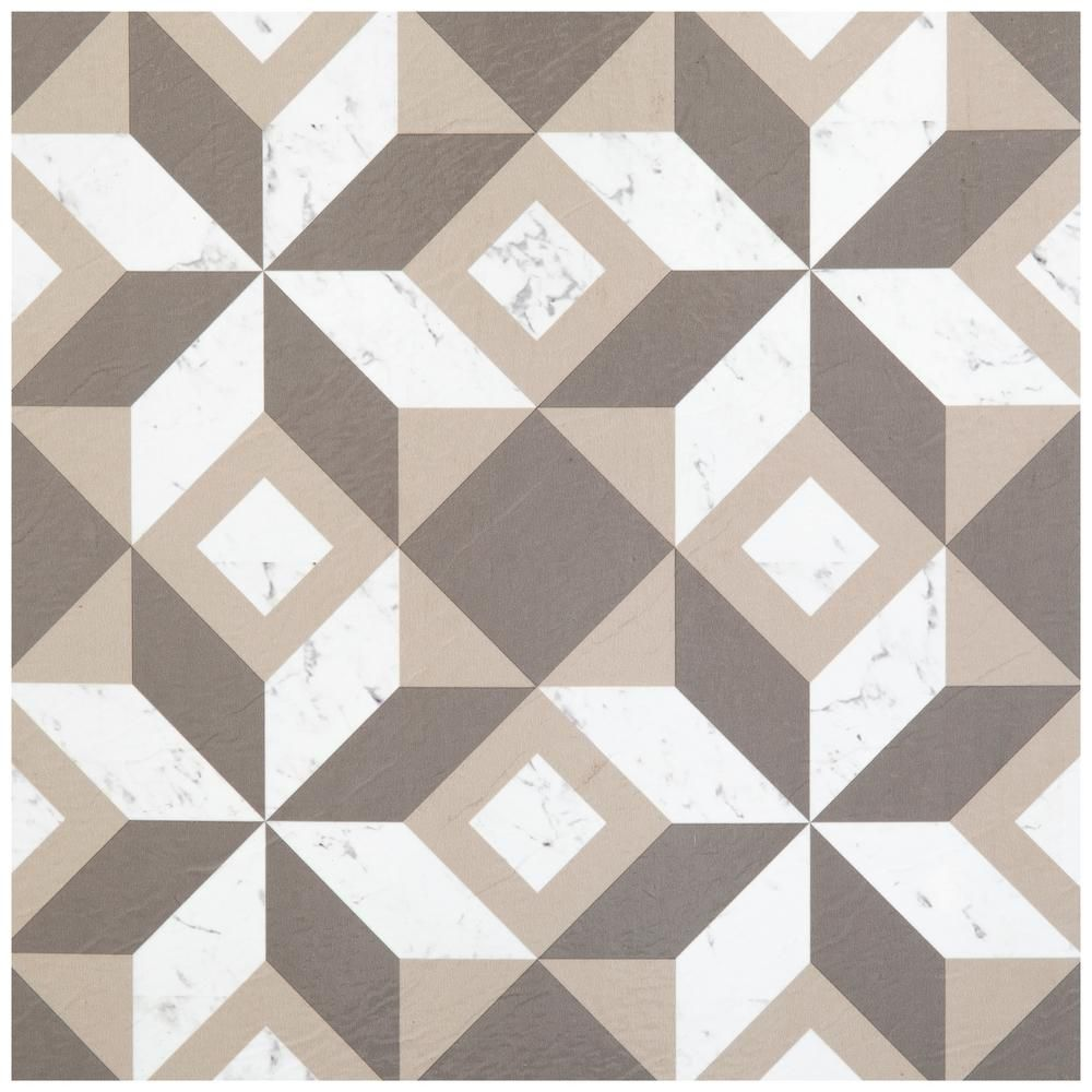 Achim Retro Prism Marble 12 In X 12 In Self Adhesive Vinyl Floor Tile 20 Tiles 20 Sq Ft Rtftv60520 The Home Depot In 2020 Vinyl Flooring Retro Tiles Adhesive Vinyl