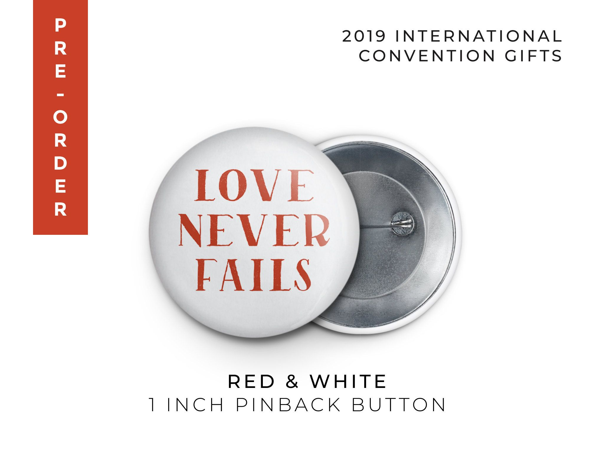 PRE-ORDER 2019 JW International Convention Button Pin Gift