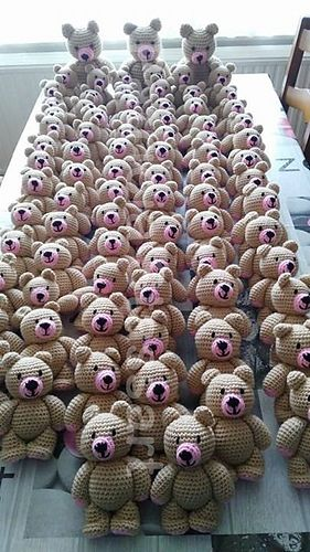 Standing Bear Free Crochet Pattern By Patricia Stassart Crochet