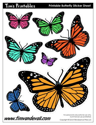 Printable Butterflies Butterfly Applique Patterns