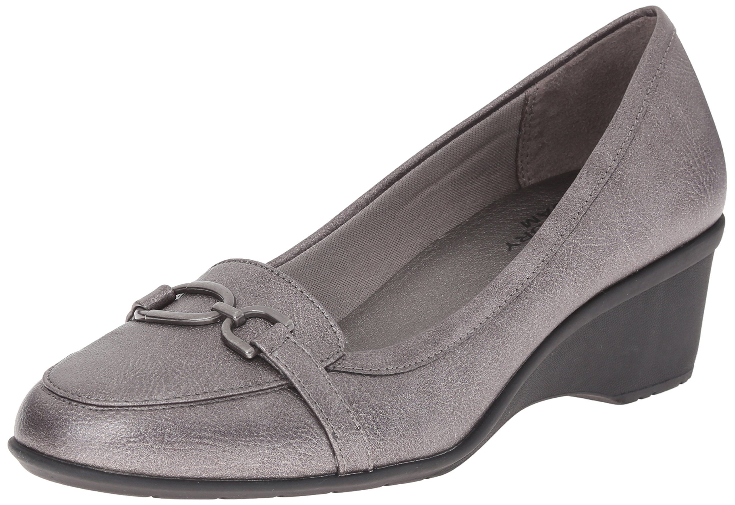 LifeStride Women's Keaton Wedge Loafer, Pewter, 10 W US. LifeStride  velocity with memory