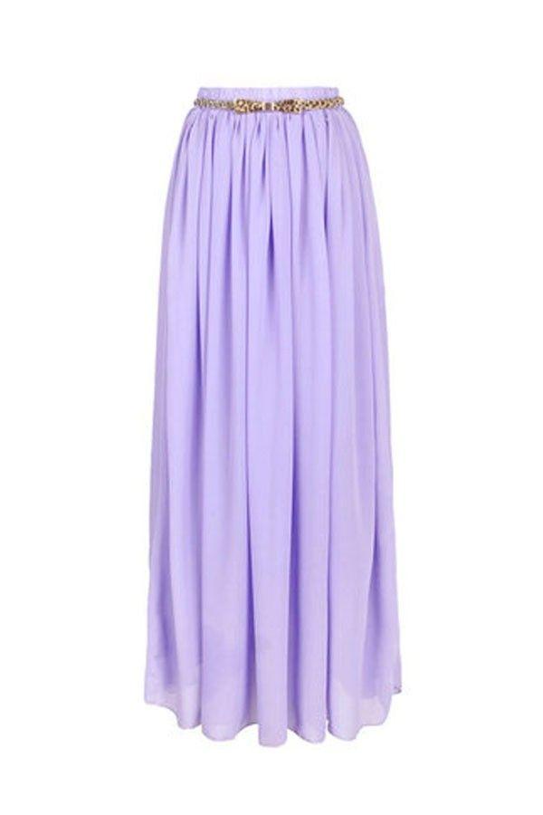 Light Purple Chiffon Maxi Skirt #ustrendy ustrendy.com | Skirts ...