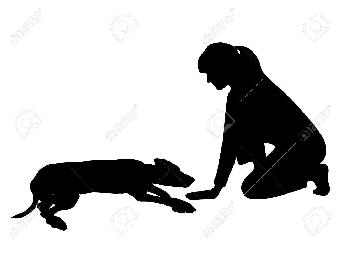 Black Dog Lying Dow