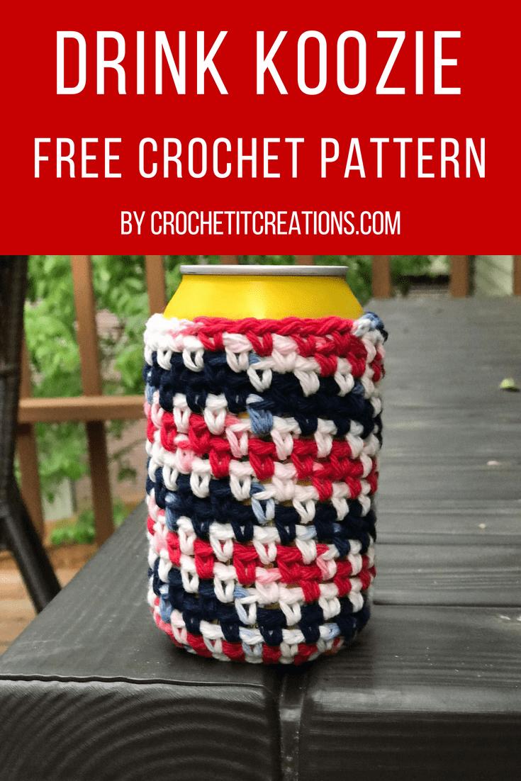 Drink Koozie Crochet Pattern