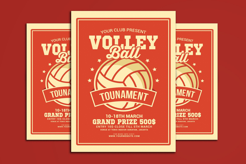 Volleyball Tournament Flyer Graphic By Muhamadiqbalhidayat Creative Fabrica Flyer Volleyball Tournaments Volleyball