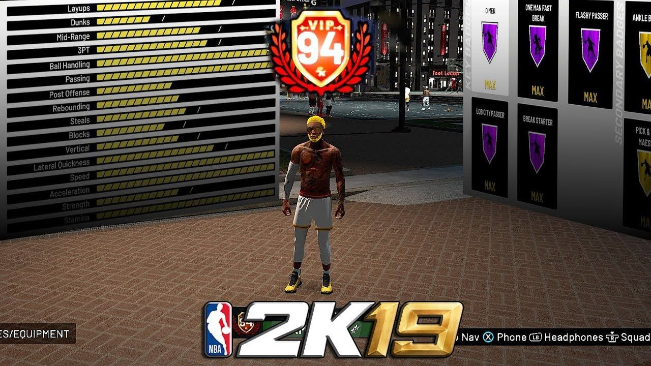 94 overall PURE POINT FORWARD ATTRIBUTE AND BADGE UPDATE NBA 2K19