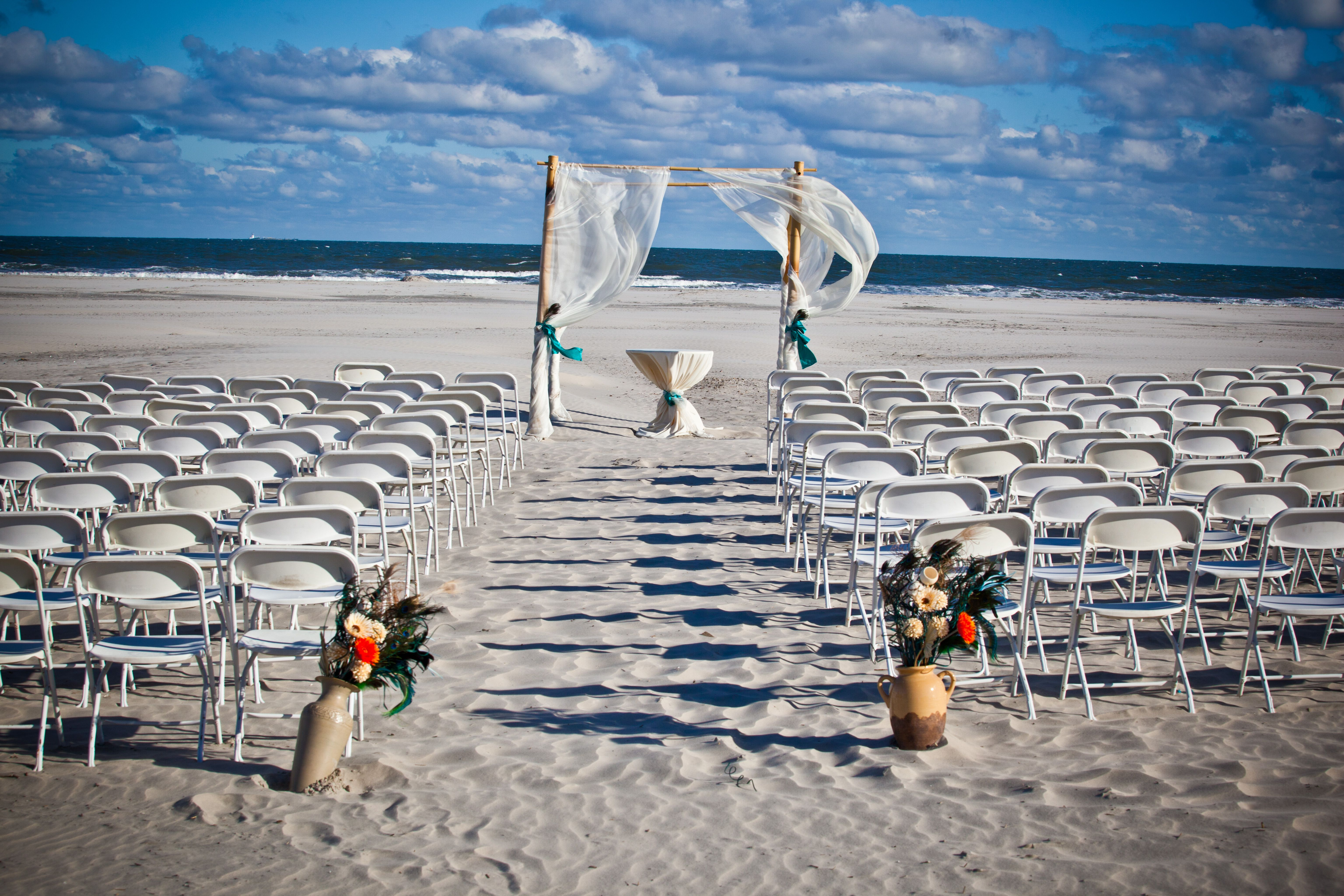 Gorgeous Beach Ceremony E Wedding At Hotel Icona Diamond New Jersey Between Cape May Wildwood Crest Nj Hotelicona Diamondbeach