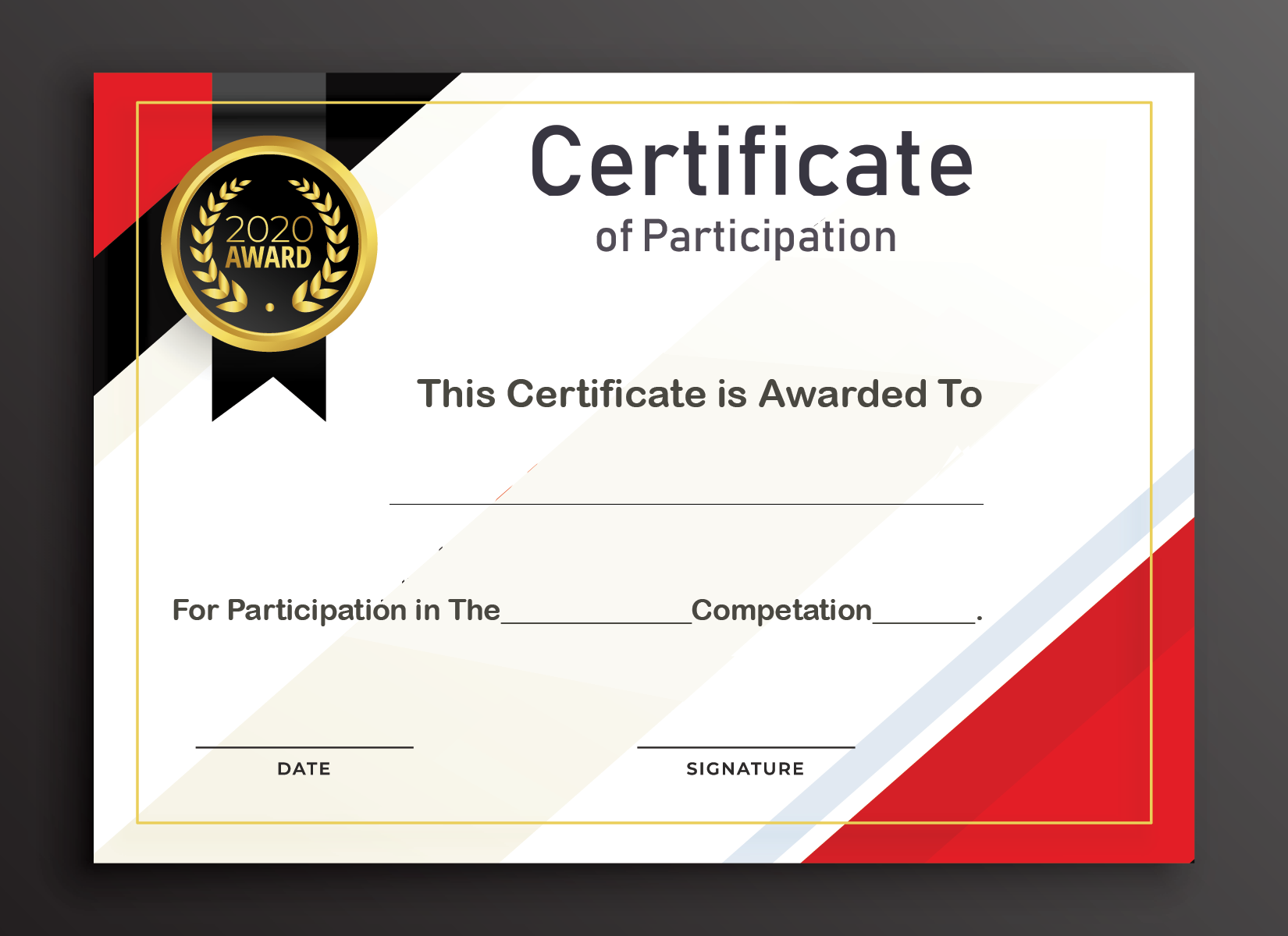 Free Printable Certificate Of Participation Templates Cop Certificate Of Participation Template Certificate Templates Printable Certificates