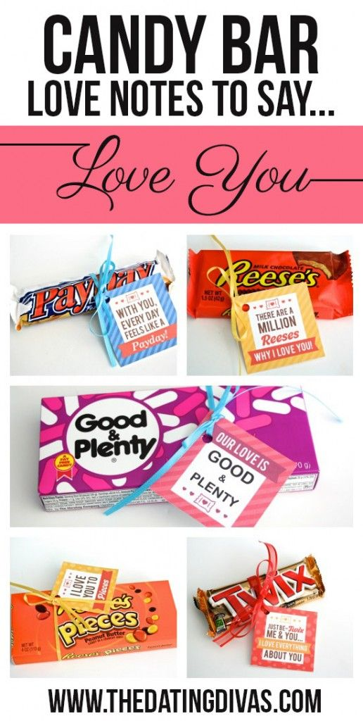 Clever Candy Sayings for {almost} Every Occasion! | Note, Bar and Gift