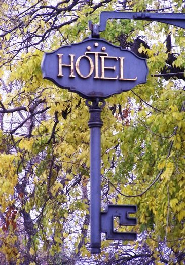 Hotel sign - Győr, Hungary