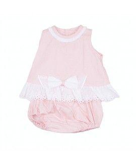 d1af1ea6 Jesusito rosa con puntilla blanca Vestidos Para Niñas, Ropa Para Niñas,  Para Niños,