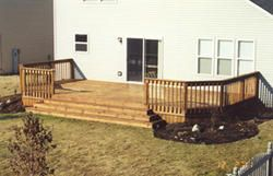 12 X 24 Deck W Wide Stairs Plan Building A Deck Decks Backyard Deck Stairs
