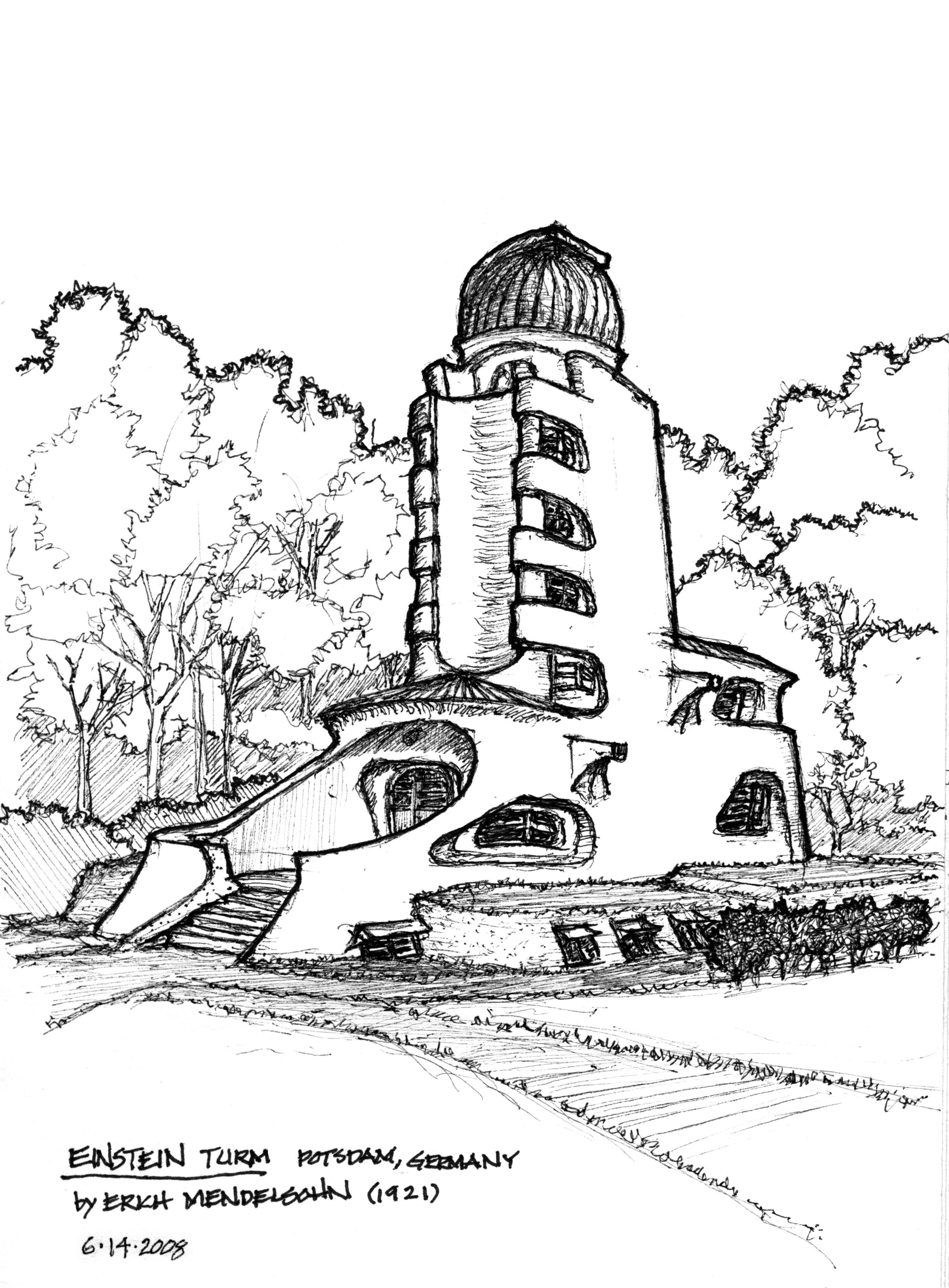 Einstein Tower by Erich Mendelsohn in Potsdam, Germany