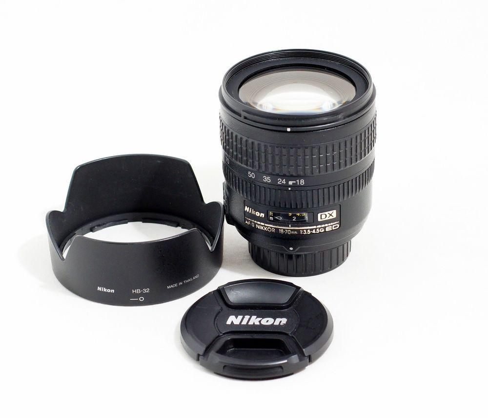 Nikon Nikkor Af S 18 70mm F3 5 4 5 G Ed Dx If Lens Afs 410 Ebay Nikon Nikon D3100 Accessories Nikon D3300