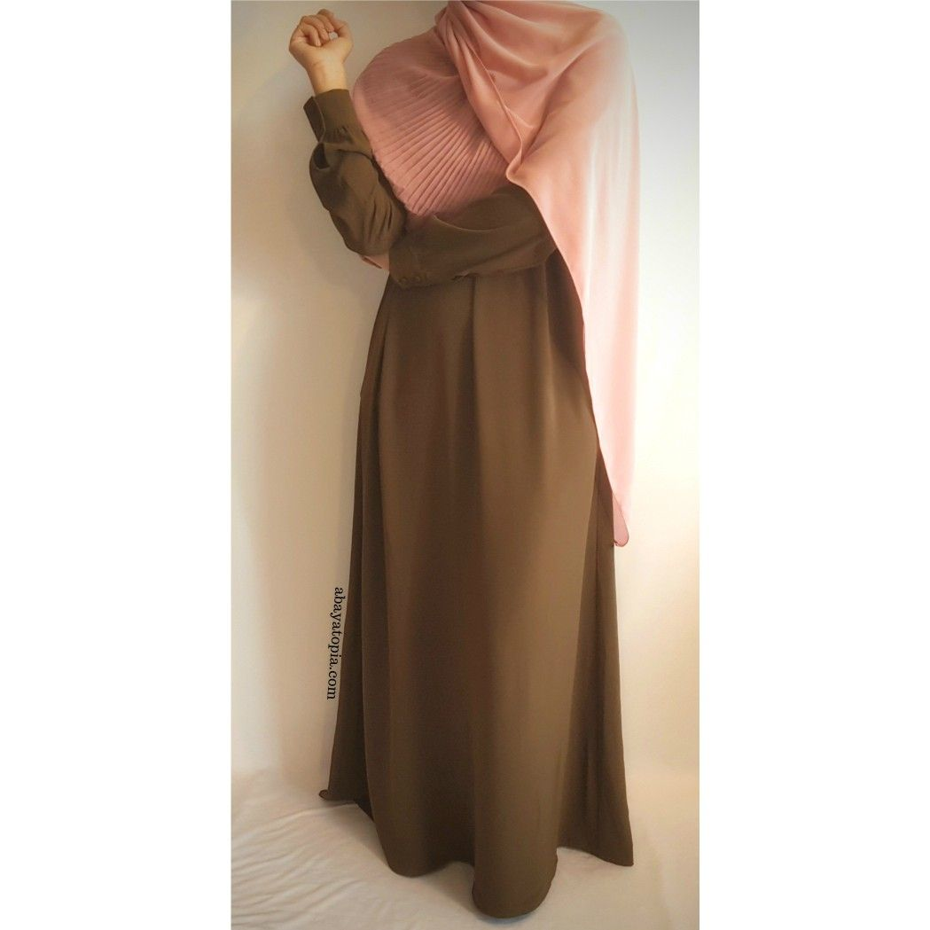 Simple khakigreen closed abaya hijab pinterest khakis and abayas