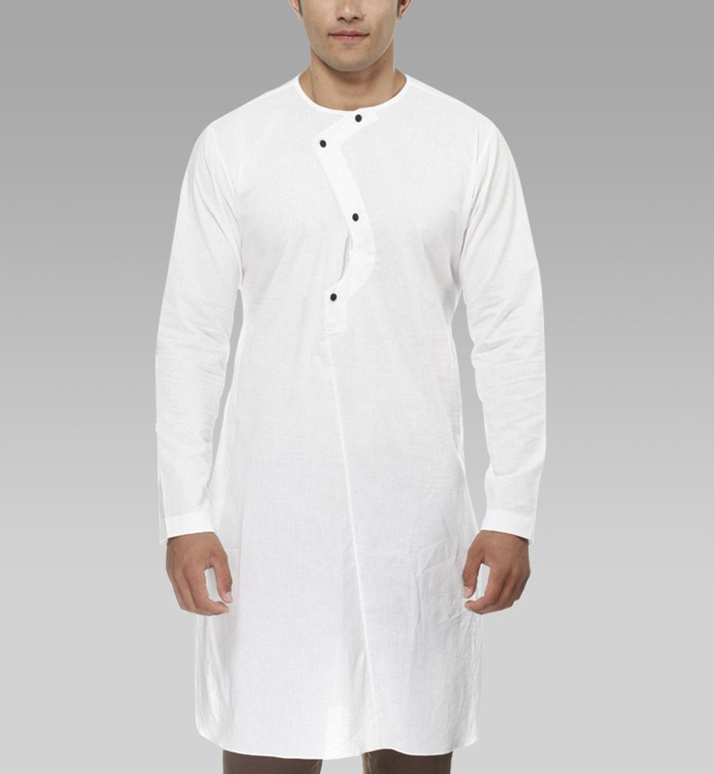 In A Neutral White Tone This Armhole Placket Round Neck White Cotton Kurta By I Know Will Lend A Smart Sensibility To Your In Western Look How To Wear Fashion