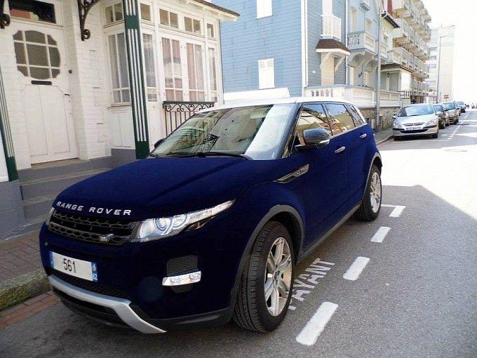 Range Rover Evoque Ruined with Blue Velvet Wrap in France