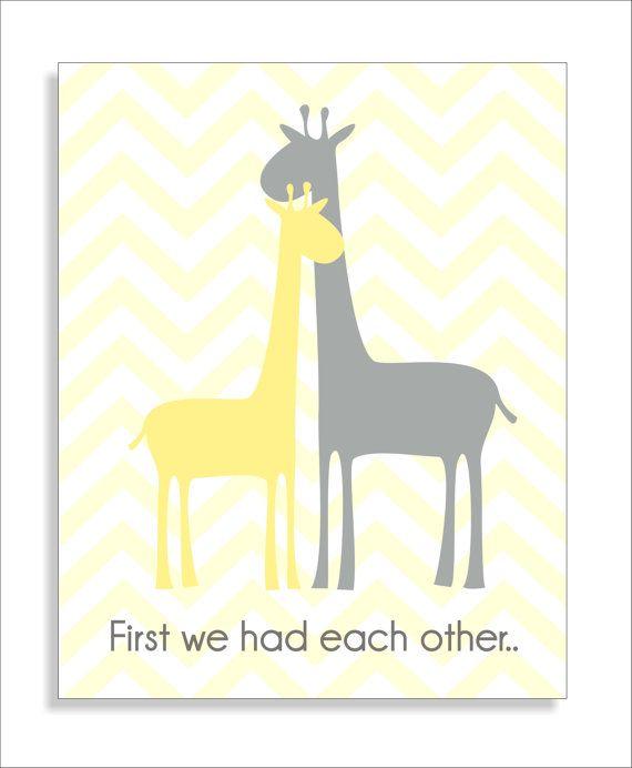 Giraffe Children\'s Wall Art with Quote by FieldandFlower on Etsy ...