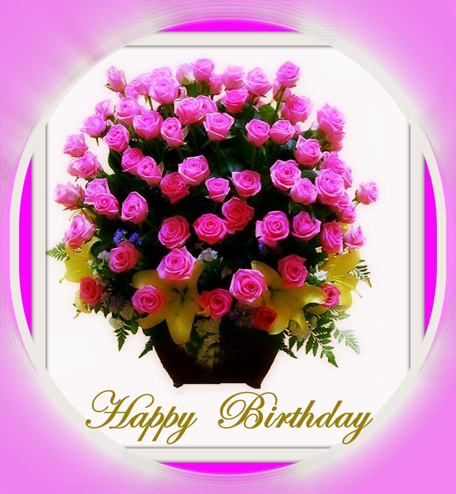 happy birthday flowers ดอกไม้