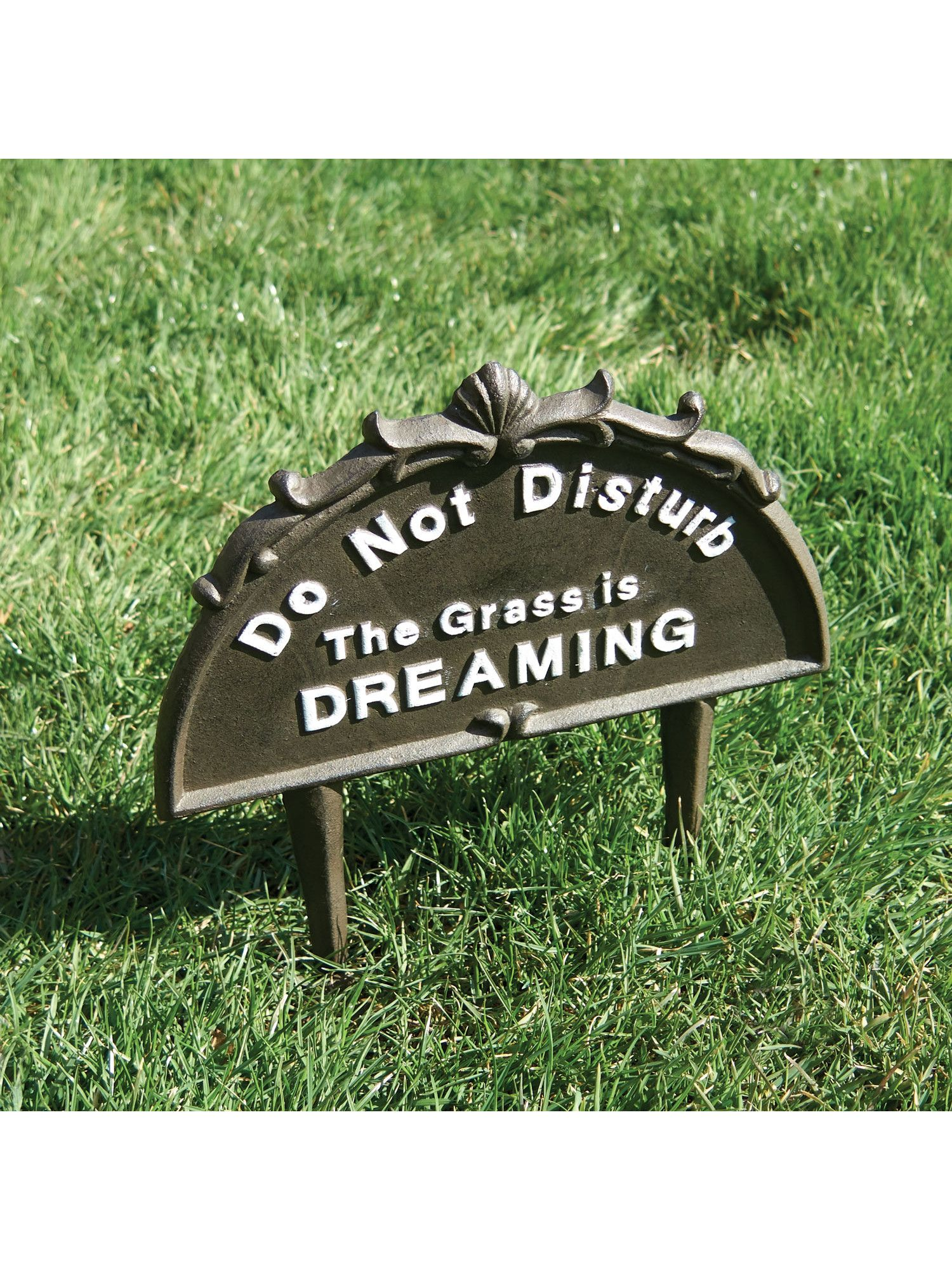 Do Not Disturb Lawn Sign Outdoor Cast Iron Yard Stake Walmart Com In 2021 Lawn Sign Outdoor Signs Lawn