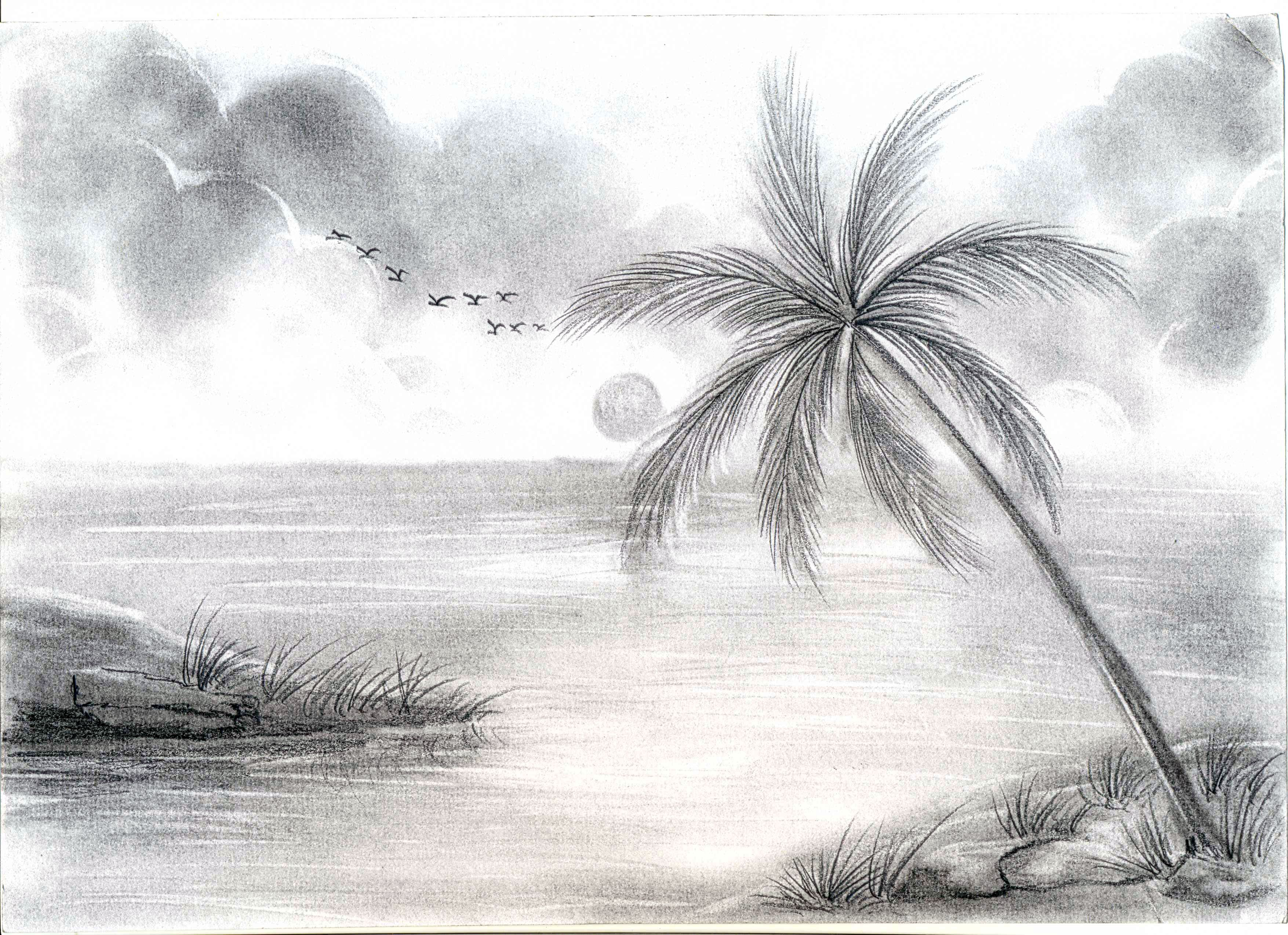 Sketch Of Village Scenery At Paintingvalley Com Explore Collection Drawing Scenery Landscape Sketch Landscape Pencil Drawings