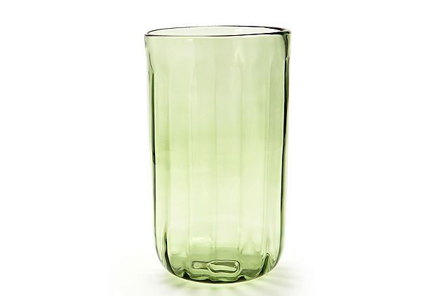 Although stated to be a hurricane (which would be wonderful with a pillar candle in it, I see it as a cool vase as well!  :-)