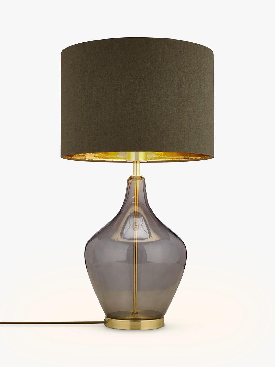John Lewis Partners Ursula Table Lamp Smoked Glass In 2020 With Images Smoked Glass Table Lamp Glass Table Lamp