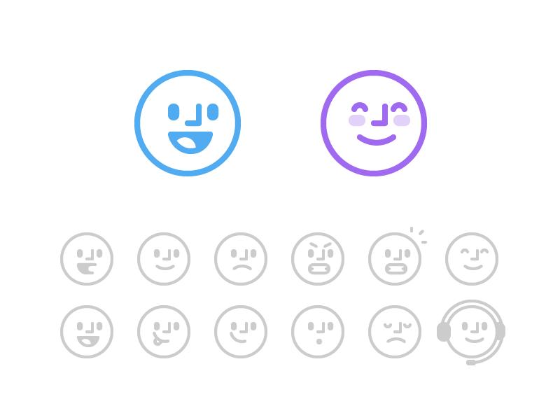 Operator Bots Smile Icon Face Icon Graphic Design Print