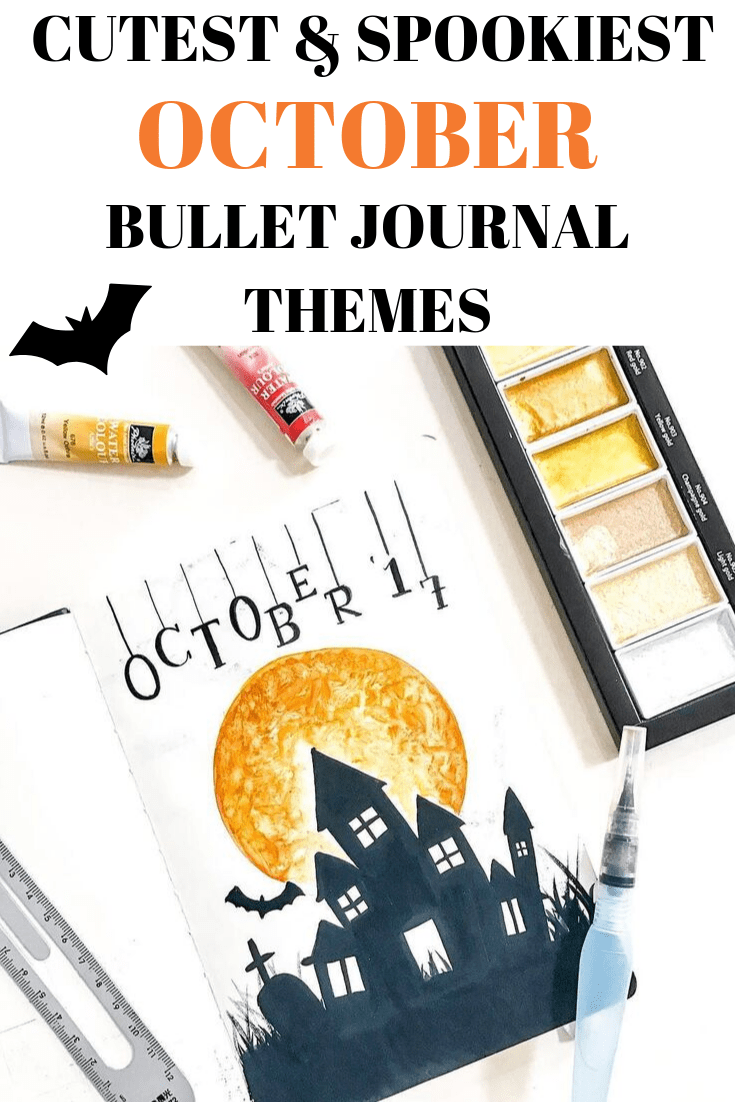 15 Bullet Journal Theme Ideas and Inspiration for October 2019 #halloweenbulletjournal