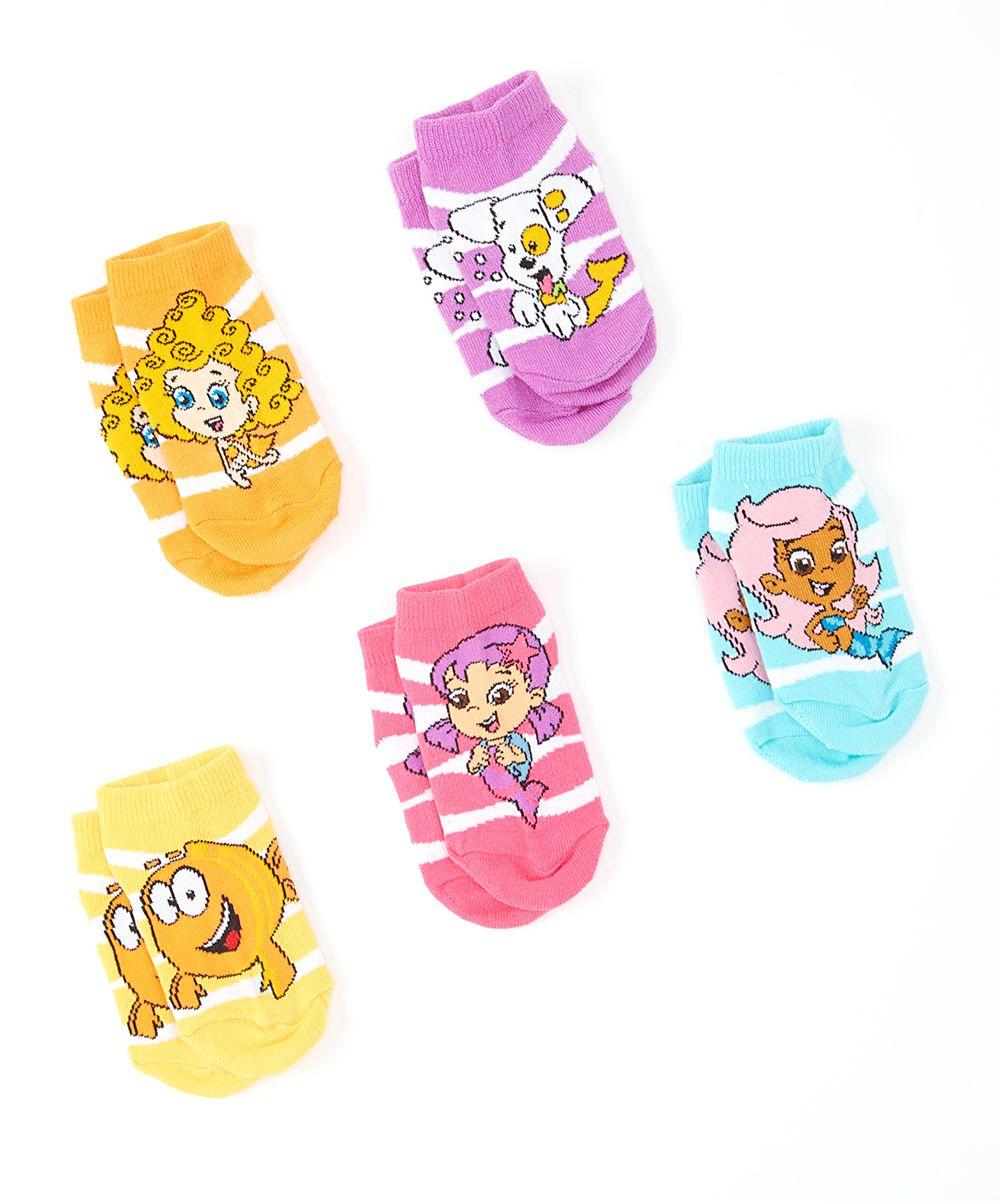 8c458a88e Bubble Guppies Stripe Five-Pair No-Show Socks Set - Toddler ...