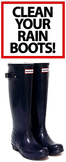 hunter how to clean your boots