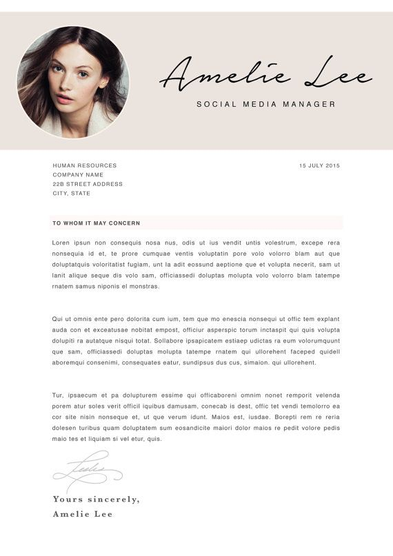 Creative Resume Template CV Template Instant Download by CvDesignCo ...
