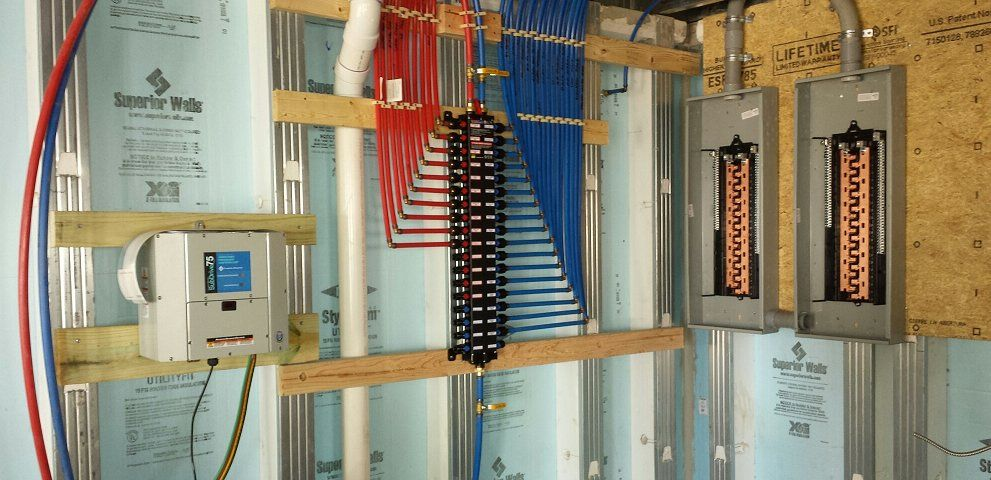 Pex supplies with a viega manabloc plumbing heating