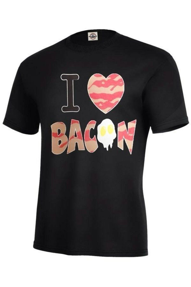 b99a4fb80 I Love Bacon Graphic T-Shirt Assorted Colors Size-S-5XL At | Etsy