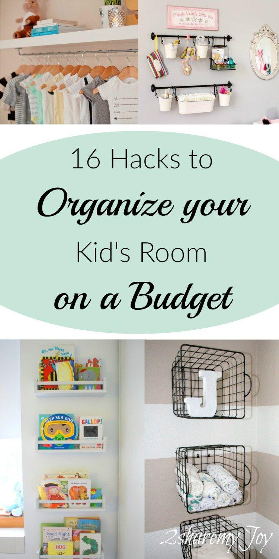 16 Simple Nursery/Kid\'s Room Organizing DIY Hacks | Clean house, DIY ...