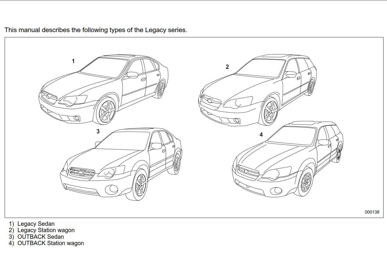 Subaru Legacy 2006 Owner's Manual has been published on