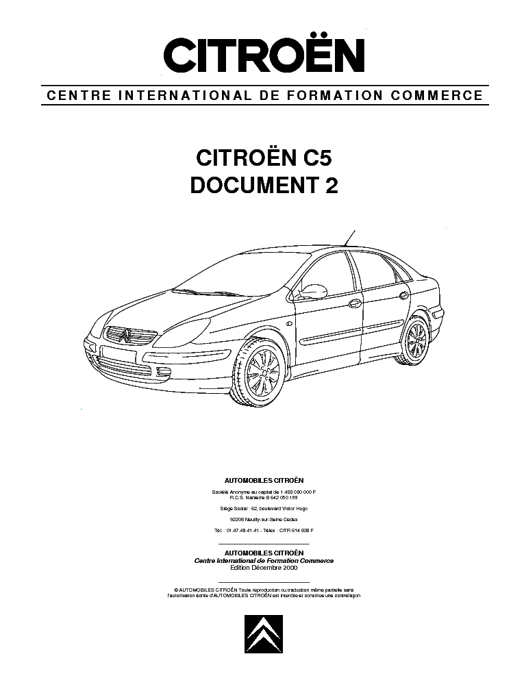 CITROEN C5 DOCUMENT 2 Service Manual free download
