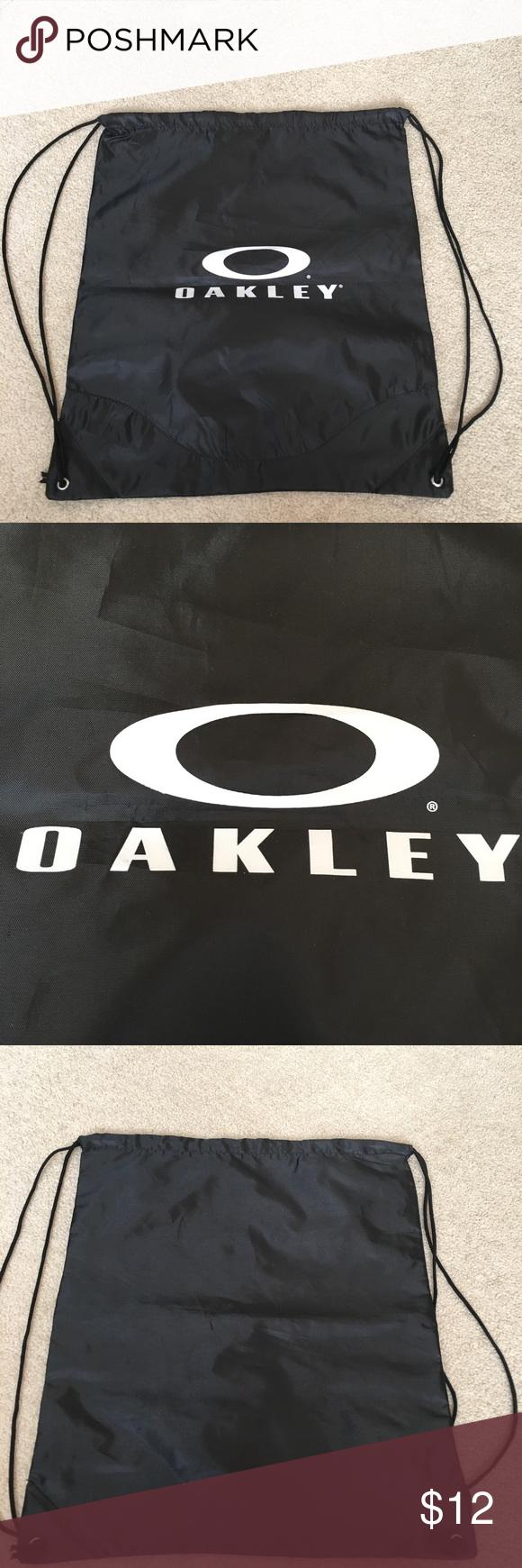 Oakley Black W White Logo Drawstring Backpack Oakley Oakley Bag Drawstring Backpack