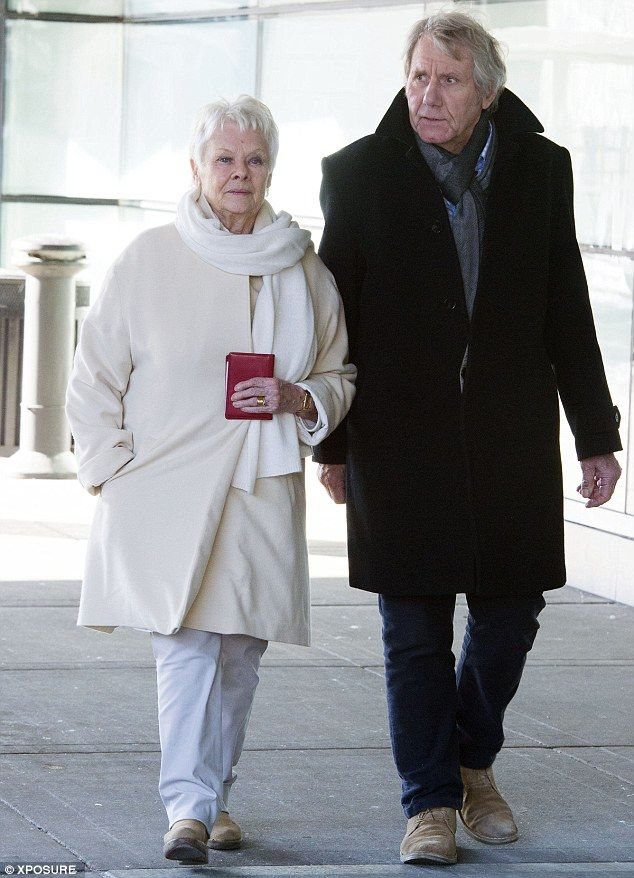 Great companions: The couple have been dating for four years but Dame Judi revealed they have no plans to move in together