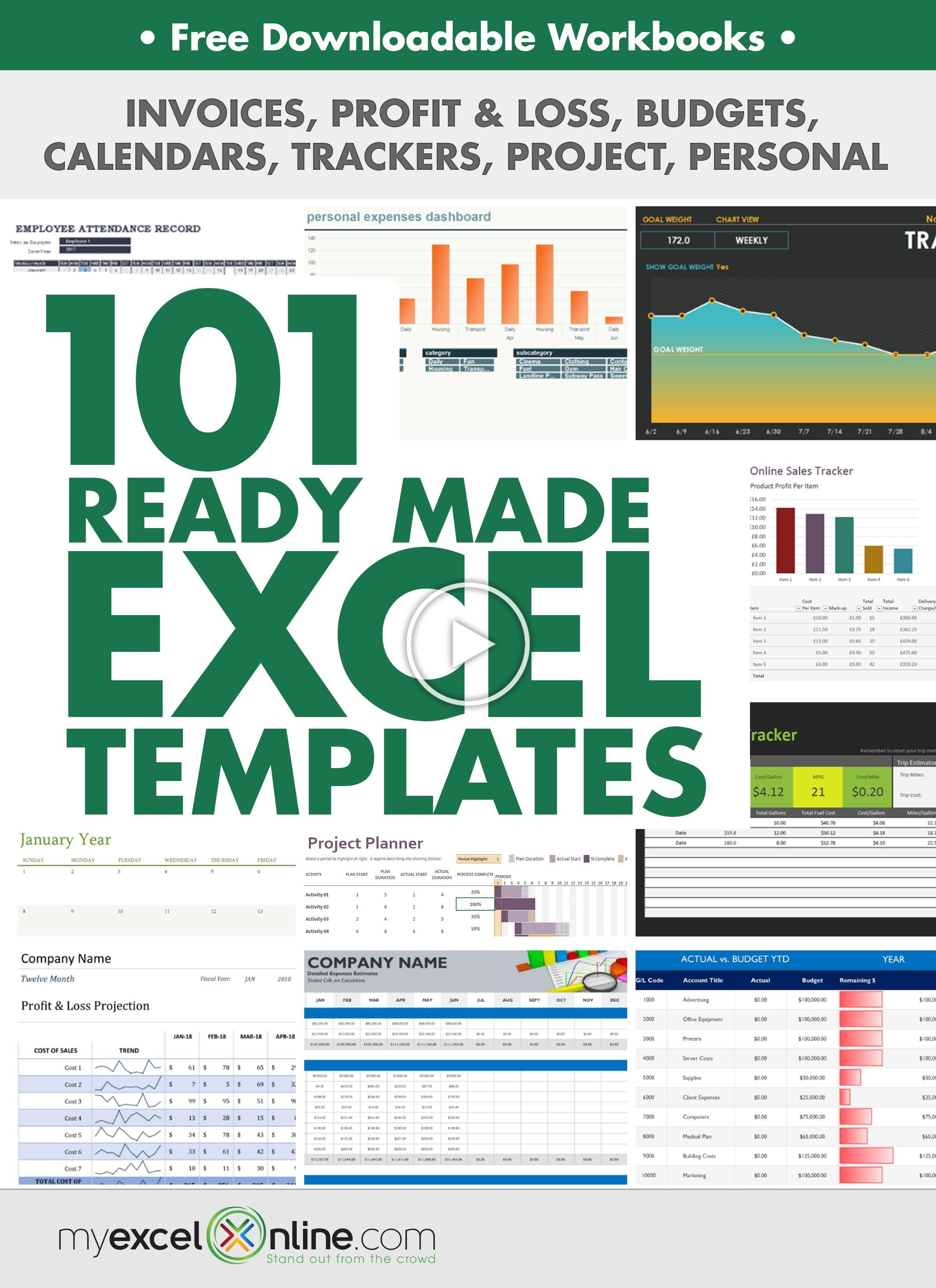 Download Our Free 101 Ready Made Excel Templates