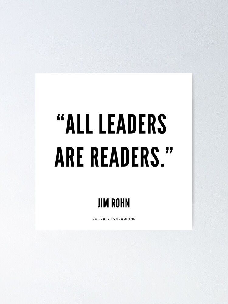"""""""All leaders are readers."""" 