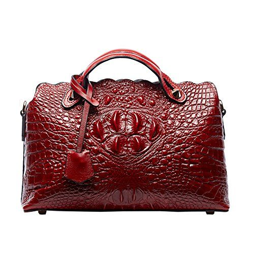 PIFUREN Classic Embossed Crocodile Purse Genuine Leather